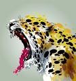 Roaring Jaguar vector image