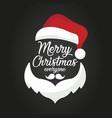 santa claus merry christmas postcard vector image vector image