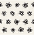 seamless sunburst shapes freehand pattern vector image vector image