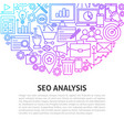 seo analysis line concept vector image