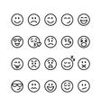 set line emoticons vector image vector image