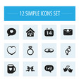 set of 12 editable love icons includes symbols vector image vector image