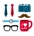 set of father things usually to use vector image vector image