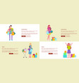 set of four web-pages on white vector image vector image