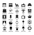 Set of interior and decoration glyph icons 5