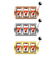 set slot machine with lucky vector image