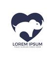 simple modern elephant logo vector image vector image