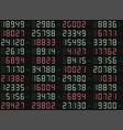 stock scoreboard vector image vector image