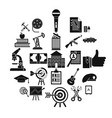 successful career icons set simple style vector image vector image