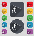 Summer sports Javelin throw icon sign A set of 12 vector image