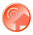 sun and home round icon vector image