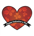 valentine day card with butterflies and hearts vector image