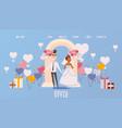 wedding ceremony organization website vector image vector image