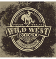 Wild west rodeo vector image vector image