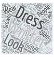 winter dresses Word Cloud Concept vector image vector image