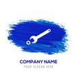wrench and bolt icon - blue watercolor background vector image