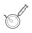 fertilizing sperm with injection vector image