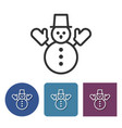 line icon of snowman vector image