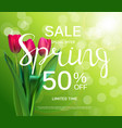 floral abstract design spring sale banner template vector image