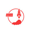 red mission to mars logo vector image
