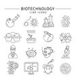 Biotechnology Icon Set vector image