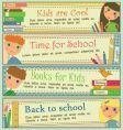 kids in school banners vector image