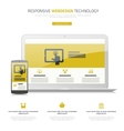 Responsive webdesign laptop and smartphone mock up vector image