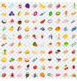 100 shopping products icons set isometric style vector image vector image
