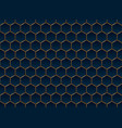 abstract blue and gold hexagon pattern background vector image