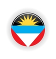 Antigua and Barbuda icon circle vector image