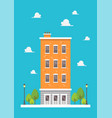 apartment in flat style design vector image vector image