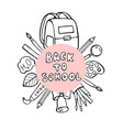 back to school banner with texture from colorful vector image vector image
