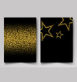 background with gold shiny stars gold vector image vector image