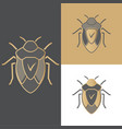 beetles of icons symbols and logos for antivirus vector image