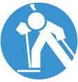 Biathlon icon vector image vector image