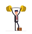 Businessman or manager are readily raised the bar vector image vector image