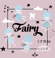 childish design with cute fairy vector image vector image
