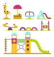children playground kindergarten amusement vector image vector image