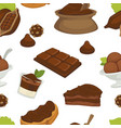 chocolate and cocoa butter products variety vector image vector image