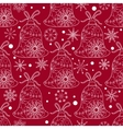 Christmas pattern with toys vector image