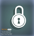 closed lock icon On the blue-green abstract vector image vector image