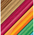 Colorful wooden vector image vector image