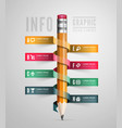Creative Template with pencil ribbon vector image vector image