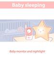 cute little boy or girl sleep in bed vector image vector image