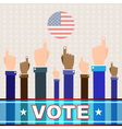 Digital usa election with hand in the air vector image