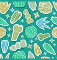 doodle hand drawn stickers cutout style colorful vector image