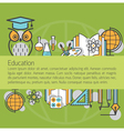 education linear icons layout background vector image vector image