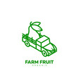 farm fruit logo vector image