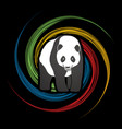 fat panda standing cartoon logo vector image