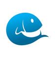 fish initial icon logo creative concept vector image vector image